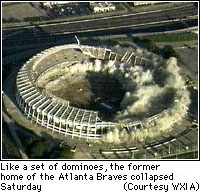 Fulton County Stadium Demolition